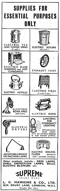 L.G.Hawkins Industrial Electrical Appliances 1942