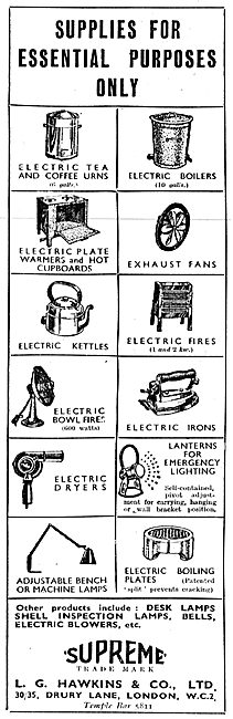 L.G.Hawkins Electrical Factory Sundries