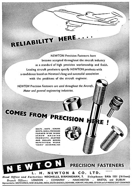 Newton Precision Fasteners For Aircraft