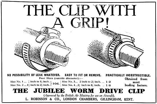 L.Robinson & Co - Jubilee Worm Drive Clips. Jubilee Clips