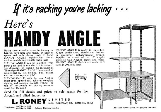 L.Roney HANDY ANGLE Storage & Racking System