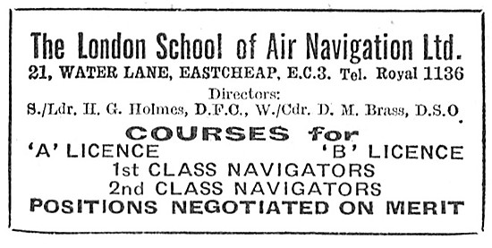 The London School Of Air Navigation