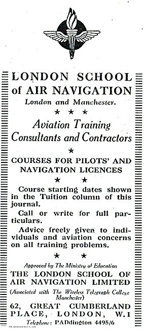 The London School Of Air Navigation Courses  Pilots & Navigators