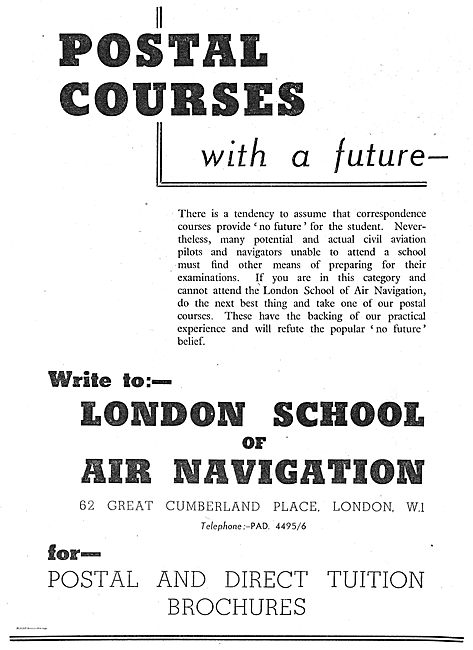 The London School Of Air Navigation Ltd  Postal Courses