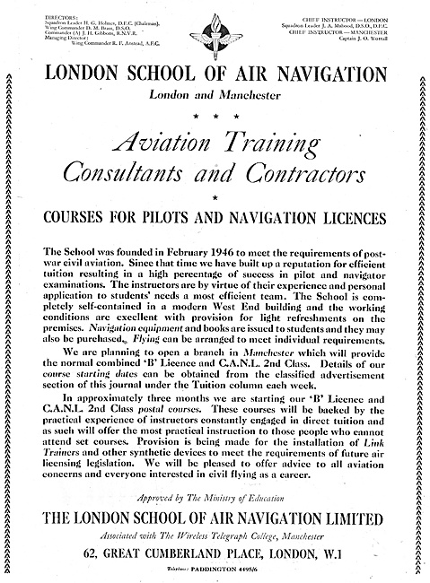 The London School Of Air Navigation Postal Courses