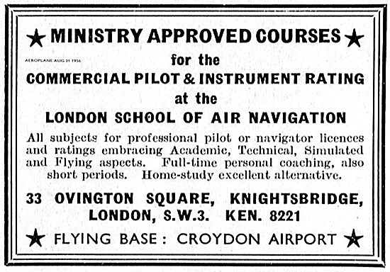 London School Of Air Navigation Commercial Pilot And IR Training