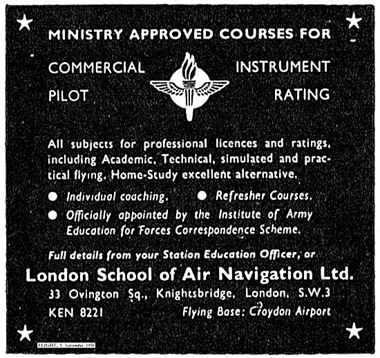 London School Of Air Navigation For Commercial Pilot Training