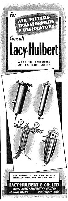 Lacy-Hulbert - Pneumatic Air Filters, Transformers & Dessicators