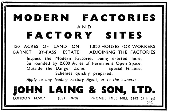 John Laing & Son Factory Construction