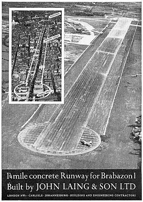 John Laing & Son - Constructors Of Bristol Filton Runway