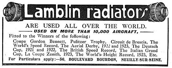 Lamblin Aero-Engine Radiators