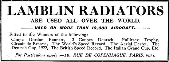 Lamblin Radiators Are Used On More Than 10,000 Aircraft