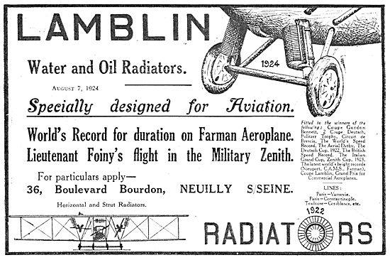Lamblin Aircraft Radiators