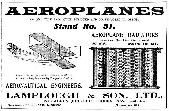 Lamplough Aeroplane Radiators