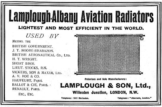 Lamplough-Albany Aviation Radiators - List Of Users