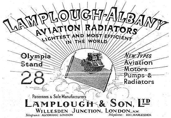 Lamplough-Albany Aviation Motors, Pumps & Radiators
