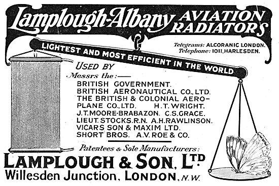 Lamplough-Albany Light Efficient Aviation Radiators
