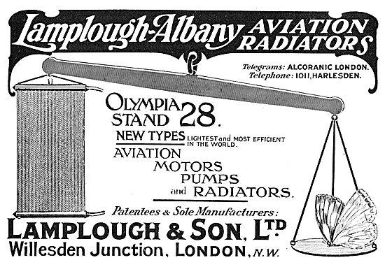 See Lamplough-Albany Aviation Radiators At Olympia