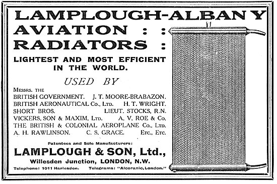 See Who's Using Lamplough-Albany Aviation Radiators