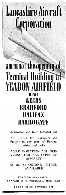 Lancashire Aircraft Yeadon Airfield Terminal Opening