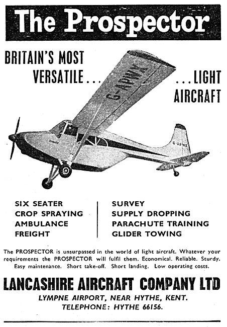 Lancashire Aircraft Prospector  - Edgar Percival E.P.9