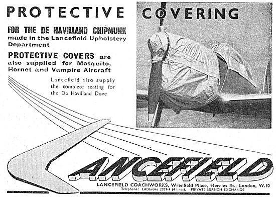 Lancefield  Aircraft Protective Covers - Lancefield Upholstery