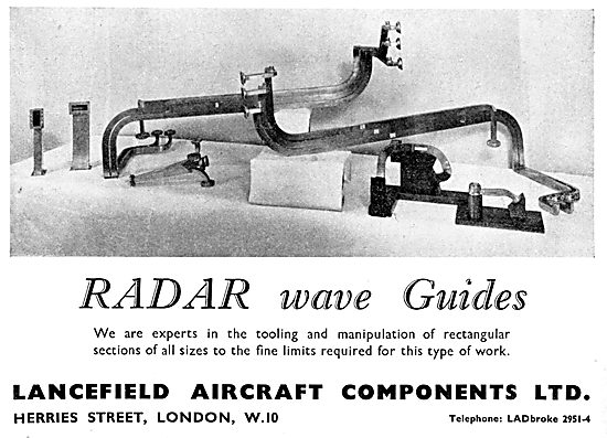 Lancefield . Aircraft Engineering .Radar Wave Guides