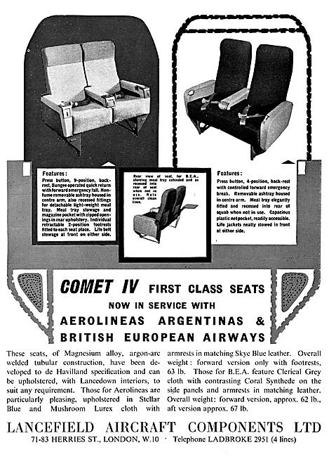 Lancefield . Aircraft Engineering .Aircraft Seats