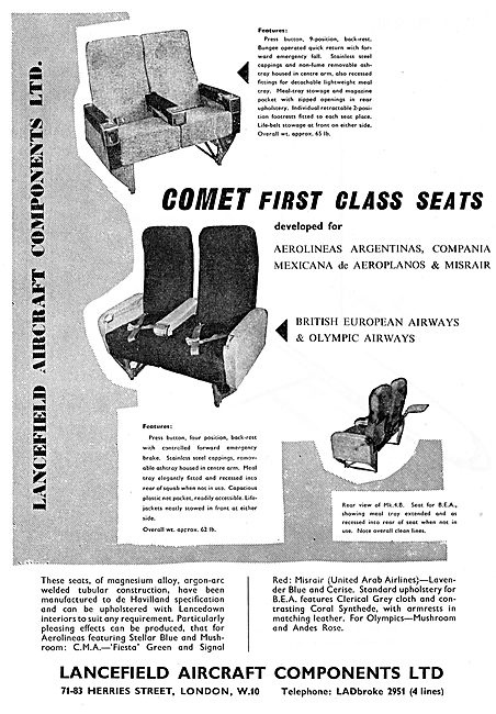Lancefield Passenger Seating For The Comet