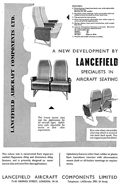 Lancefield Aircraft Components - Specialists In Aircraft Seating