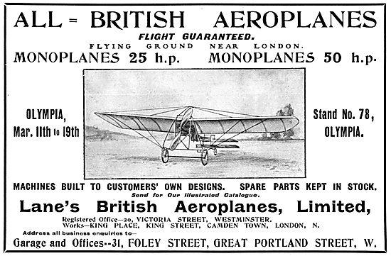 Lanes British Aeroplanes