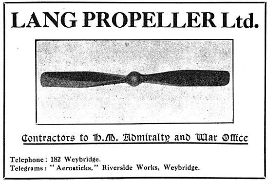 Lang Propellers 1915