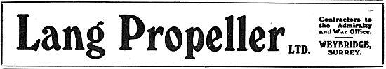 Lang Propeller Ltd. Weybridge Surrey