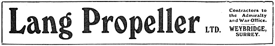 Lang Propeller 1918