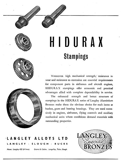Langley Alloys - Aluminium Bronzes - Hidurax Stampings