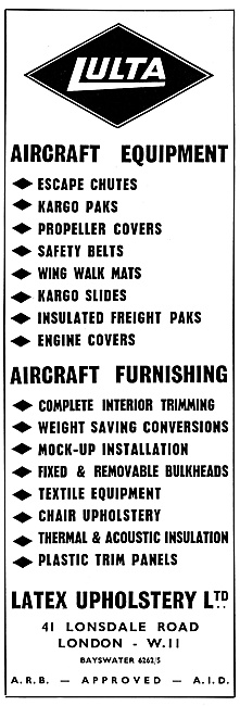 Latex  LULTA  Aircraft Equipment