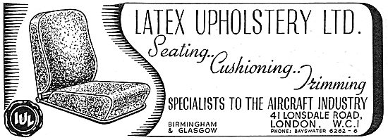 Latex Aircraft Upholstery 1939