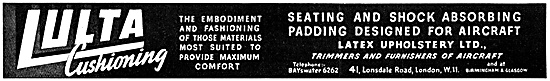 Latex Upholstery Lulta Cushioning 1944