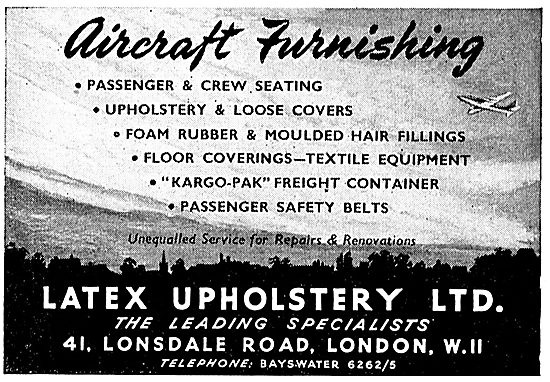 Latex Upholstery Ltd - Latex Aircraft Upholstery