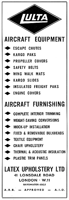 Latex Lulta Aircraft equipment & Furishings