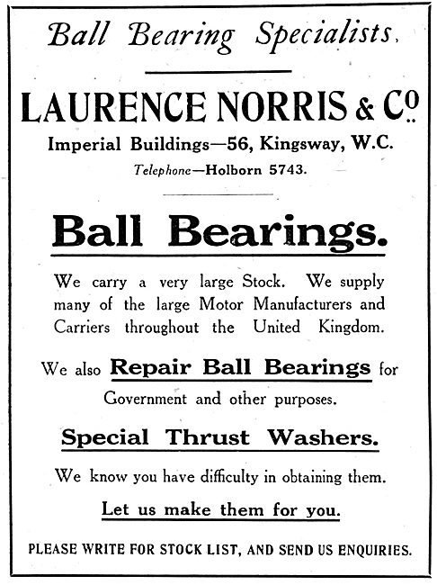Laurence Norris & Co - Ball Bearings