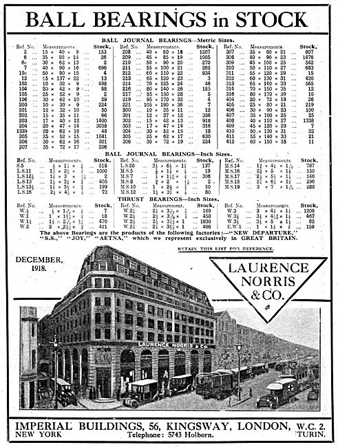 Laurence Norris & Co - Ball Bearings & Journals