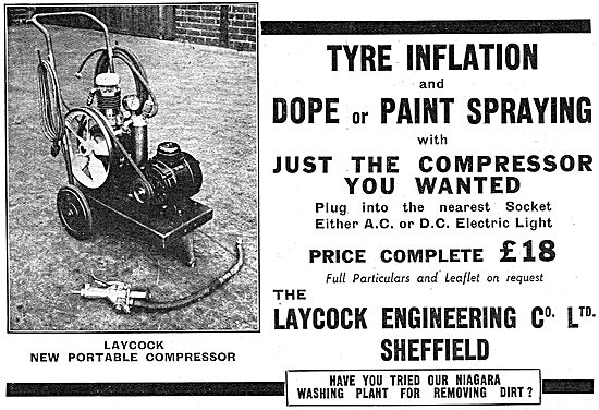 Laycock Engineering Portable Air Compressor 1937