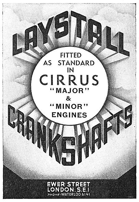 Laystall Crankshafts 1939