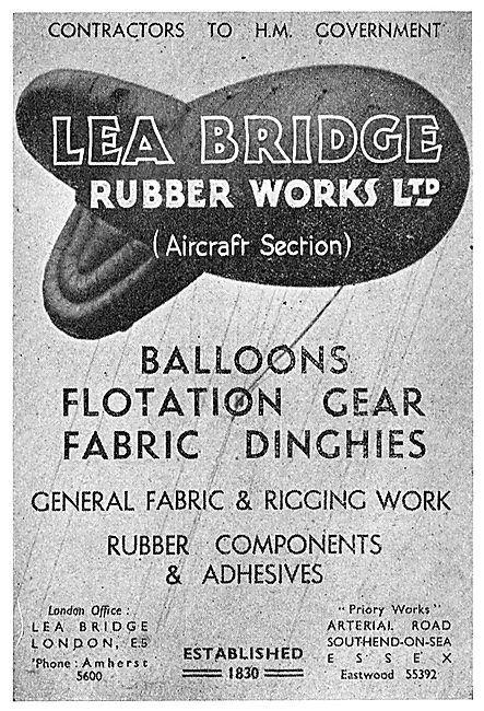 Lea Bridge Rubber Goods: Balloons, Dinghies & Flotation Gear