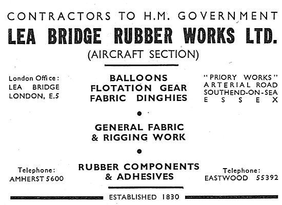 Lea Bridge (Aircraft Section) Rubber: Dinghies & Flotation Gear