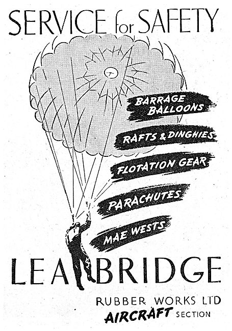 Lea Bridge Rubber Goods:  Balloons Parachutes Mae Wests