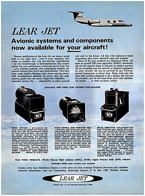 Lear Jet Avionics 1964