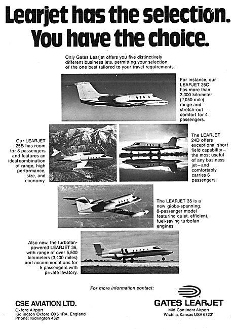Gates Learjet 35 - Gates Learjet 36. CSE