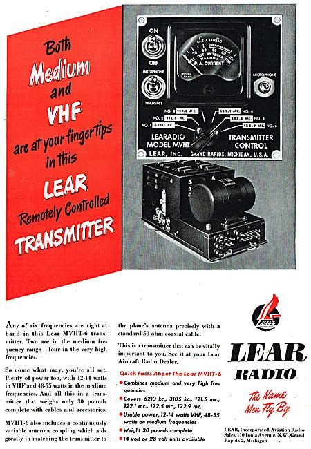 Lear Avionics - Lear VHF Radio